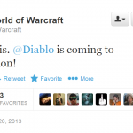Twitter – Warcraft- There it is. @Diablo is coming …